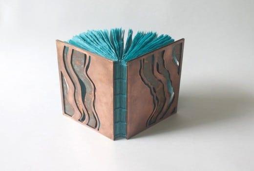 Karen Hardy: Undertow, handmade paper, copper