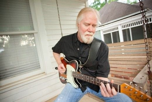 Jimmy Herring plays a Telecaster on his front porch.