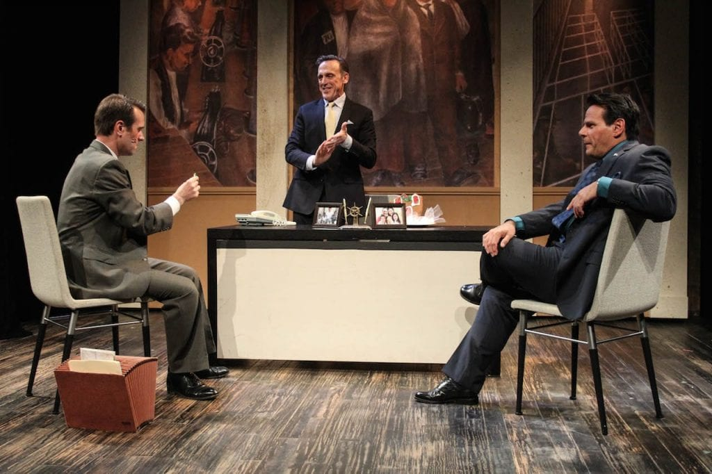 Tom Key, center, turns in a stellar performance as the bank president. (Photos by BreeAnne Clowdus)