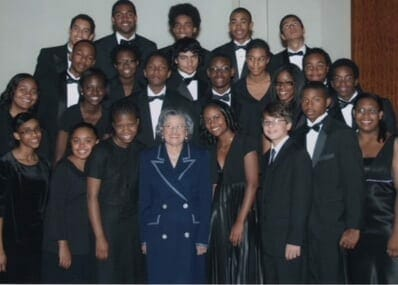 Azira Hill with students of the ASO's Talent Development Program.