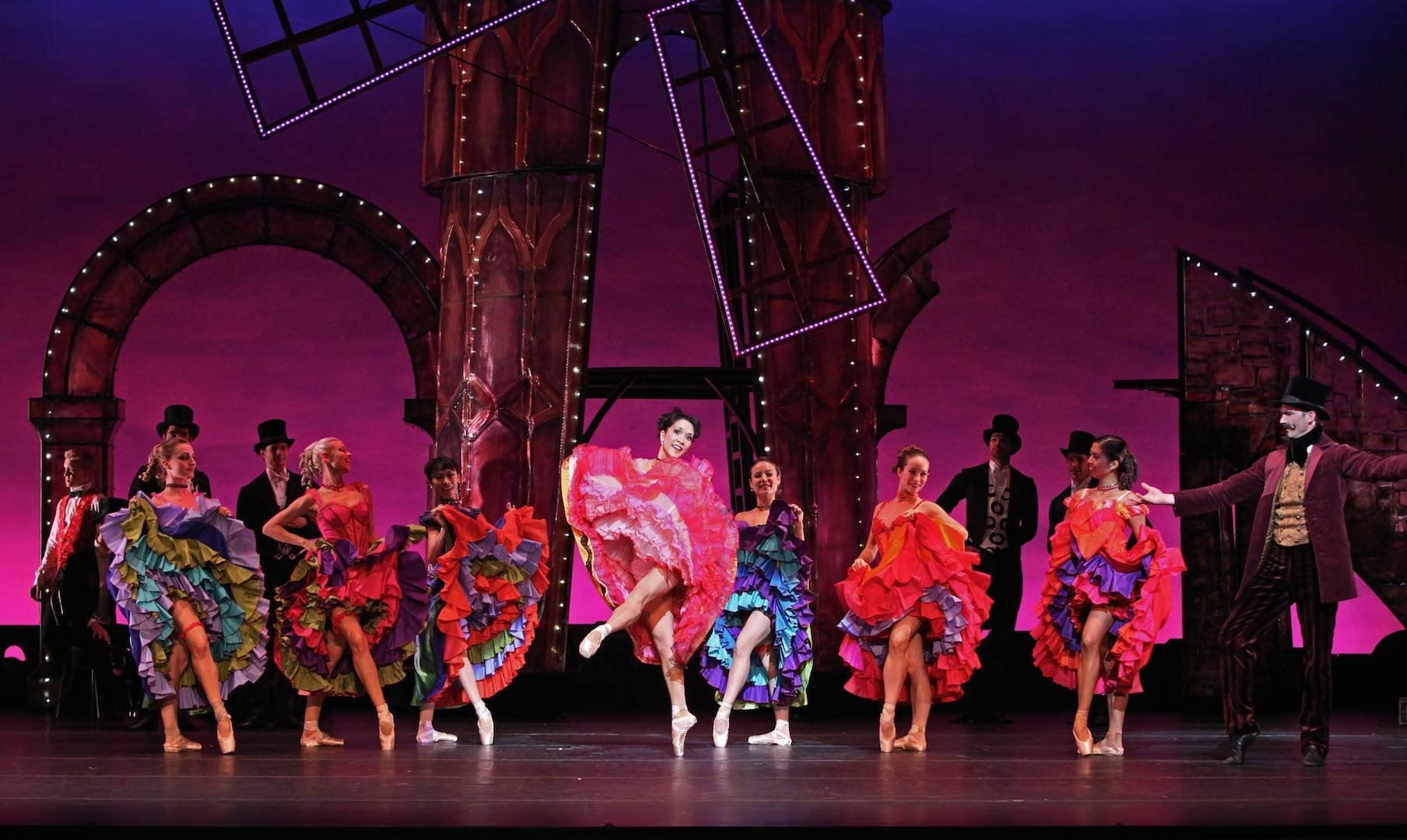 The production includes vibrant period costumes. (Photo by Charlie McCullers)