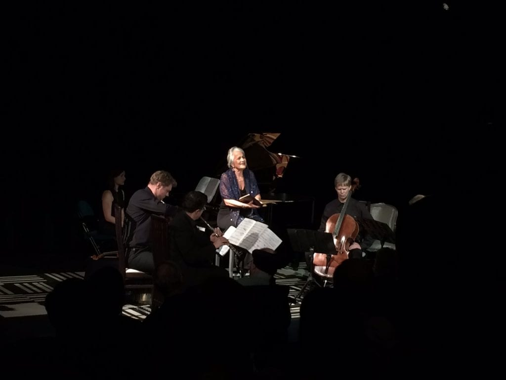 Lucy Shelton with the Atlanta Chamber Players. (Photo by Paula Peace)