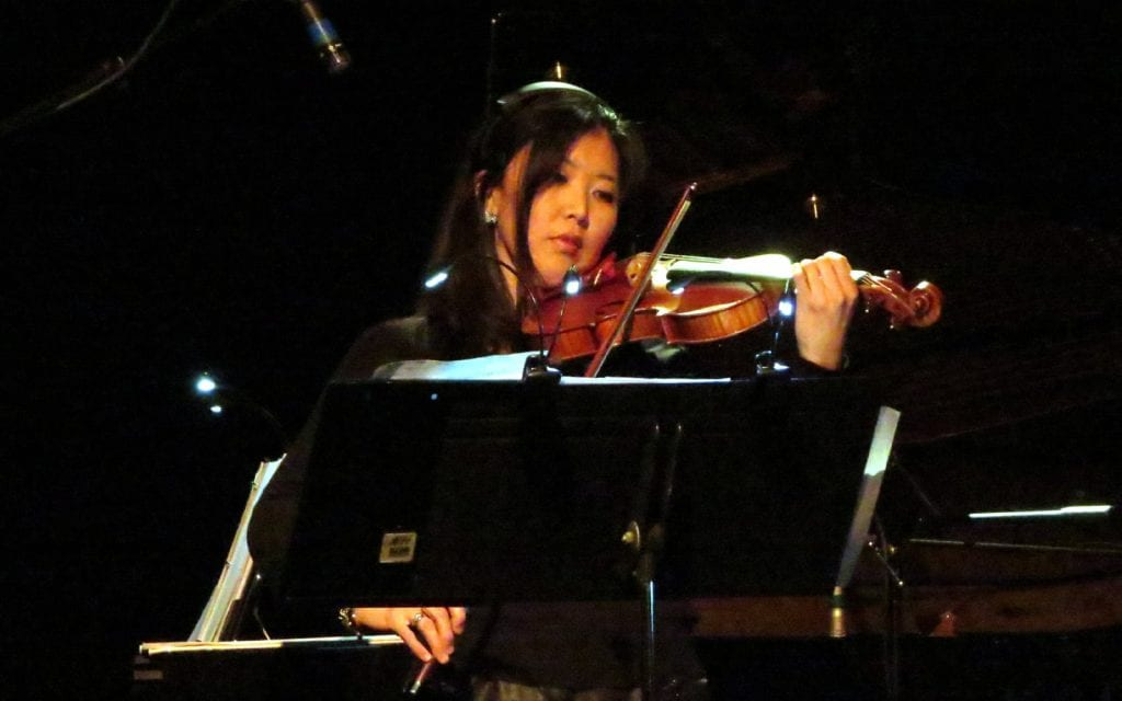 Violinist Helen Kim with Sonic Generator at Terminal West. (Photos by Mark Gresham)
