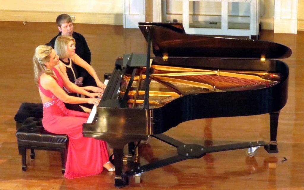 Julie Coucheron (left) and Elizabeth Pridgen shared a piano. (Photos by Mark Gresham)