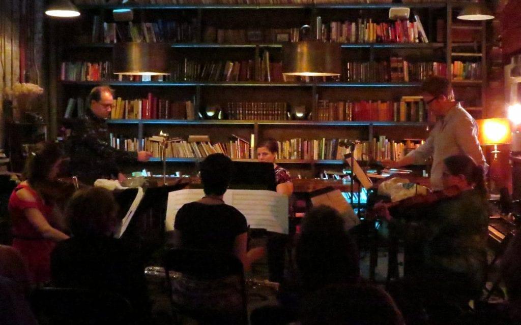 """The Chamber Cartel performs """"Die Goldenen Tiere."""" (Photos by Mark Gresham)"""