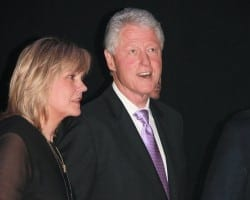 """Jan Smith and avid music fan former President Bill Clinton were side stage at Usher's """"New Look Foundation: event. (Courtesy Jan Smith)"""