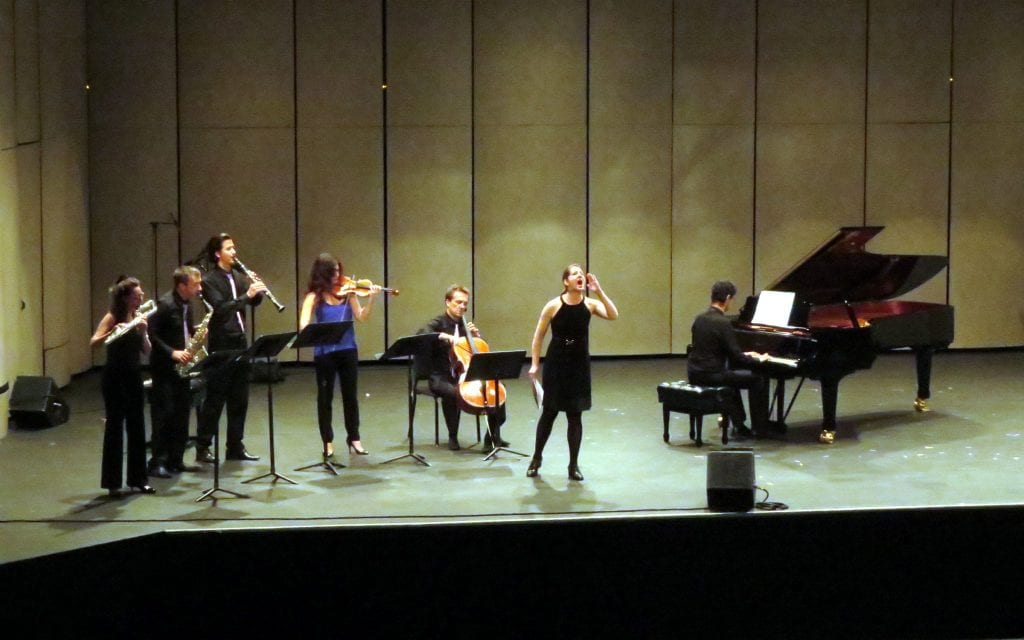 Ensemble Variances with vocalist Lisa Bielawa. (Photo by Mark Gresham)