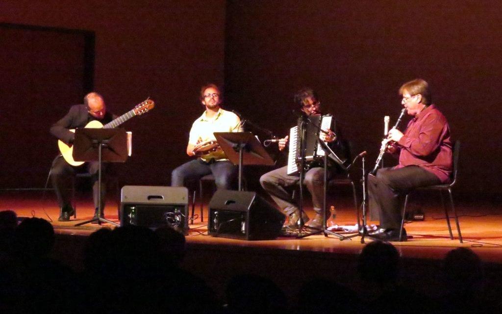 Quarteto Viagem played essentially their first together at KSU. (Photo by Mark Gresham)