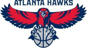 The current Atlanta Hawks logo, adopted in 1995.