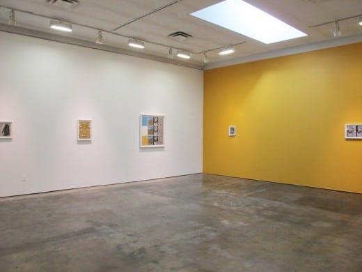 """Gallery view of Matthew Craven's installation, """"Arrangements"""""""