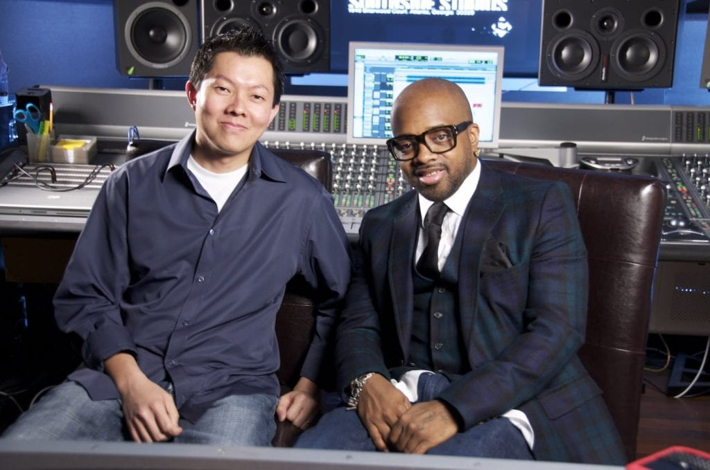 Tan and Jermaine Dupri. Image courtesy Phil Tan.