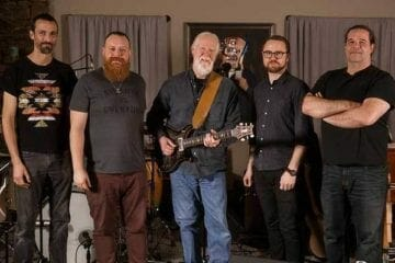 Jimmy Herring and The 5 of 7 stand for a group photo.