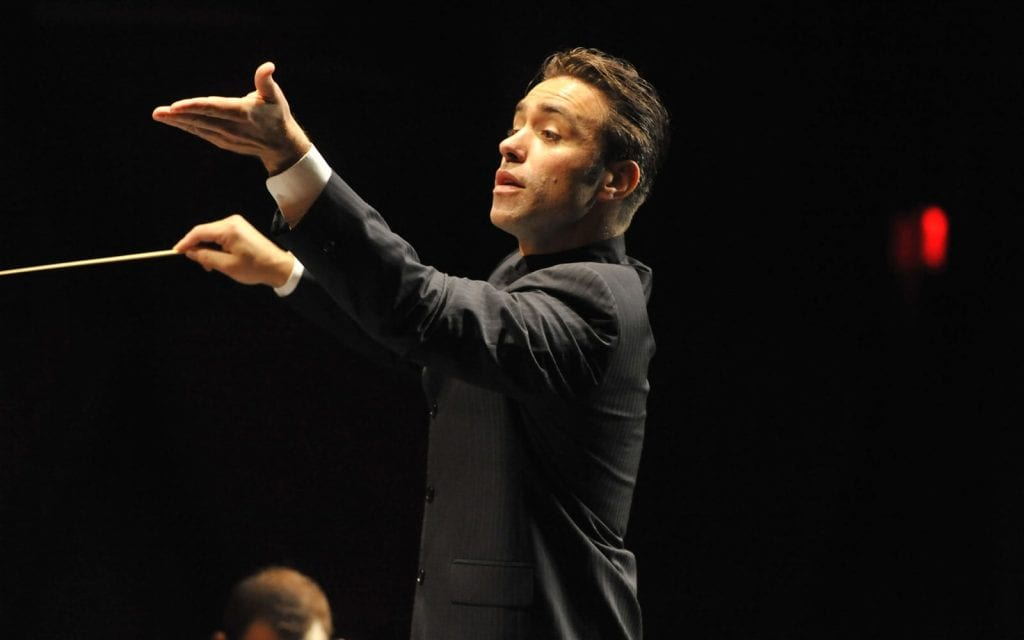 Guest conductor Jacomo Bairos was mentored by the ASO's Robert Spano.