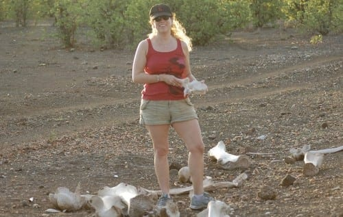 """Jopdi Picoult in Botswana conducting research for """"Leaving Time."""""""