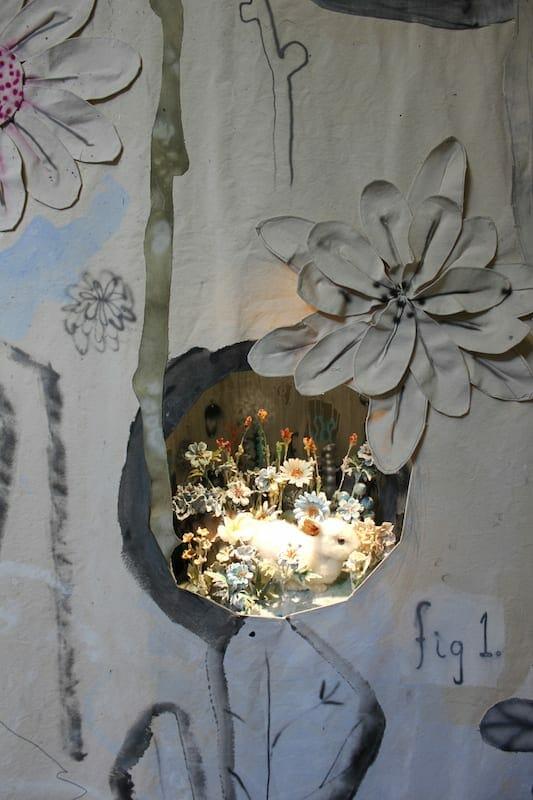 Joe Peregine canvas sculpture at the Temporary Art Center.