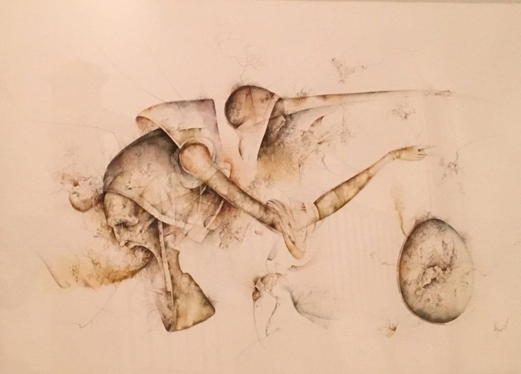 José Luis Fariñas, The Other Side 2003 Ultrafine brush watercolor