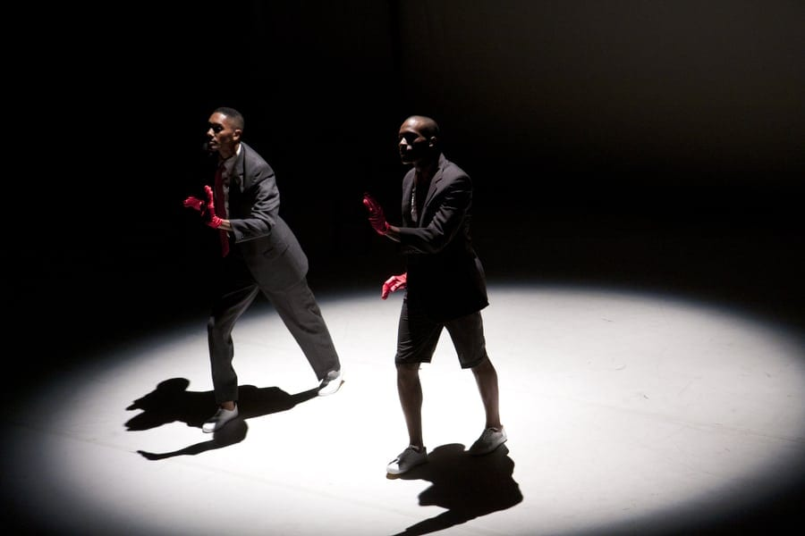 "Choreographer/dancer Juel D. Lane (left) and Jamal Callander Perform ""Waiting"" from 2010. (Photos by Tara Lynne Pixley)"