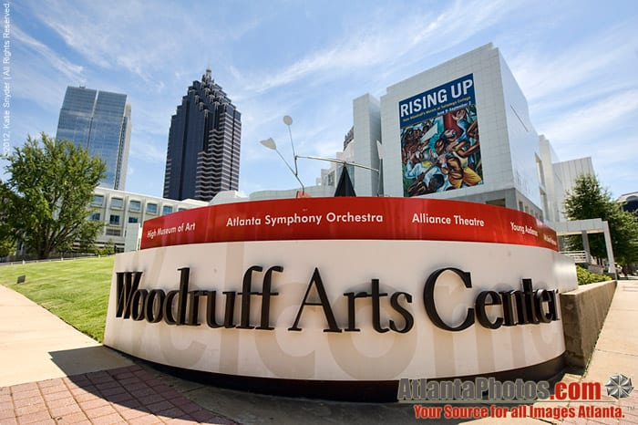 The front of the Woodruff Arts Center