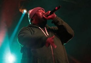 """Michael Render a.k.a. """"Killer Mike"""" performing at the Treefort Music Festival in 2014. Photo courtesy Treefort Festival and Wikicommons."""