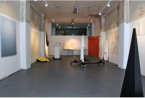 Studio view from Eyedrum Studio Residency, Winter 2016