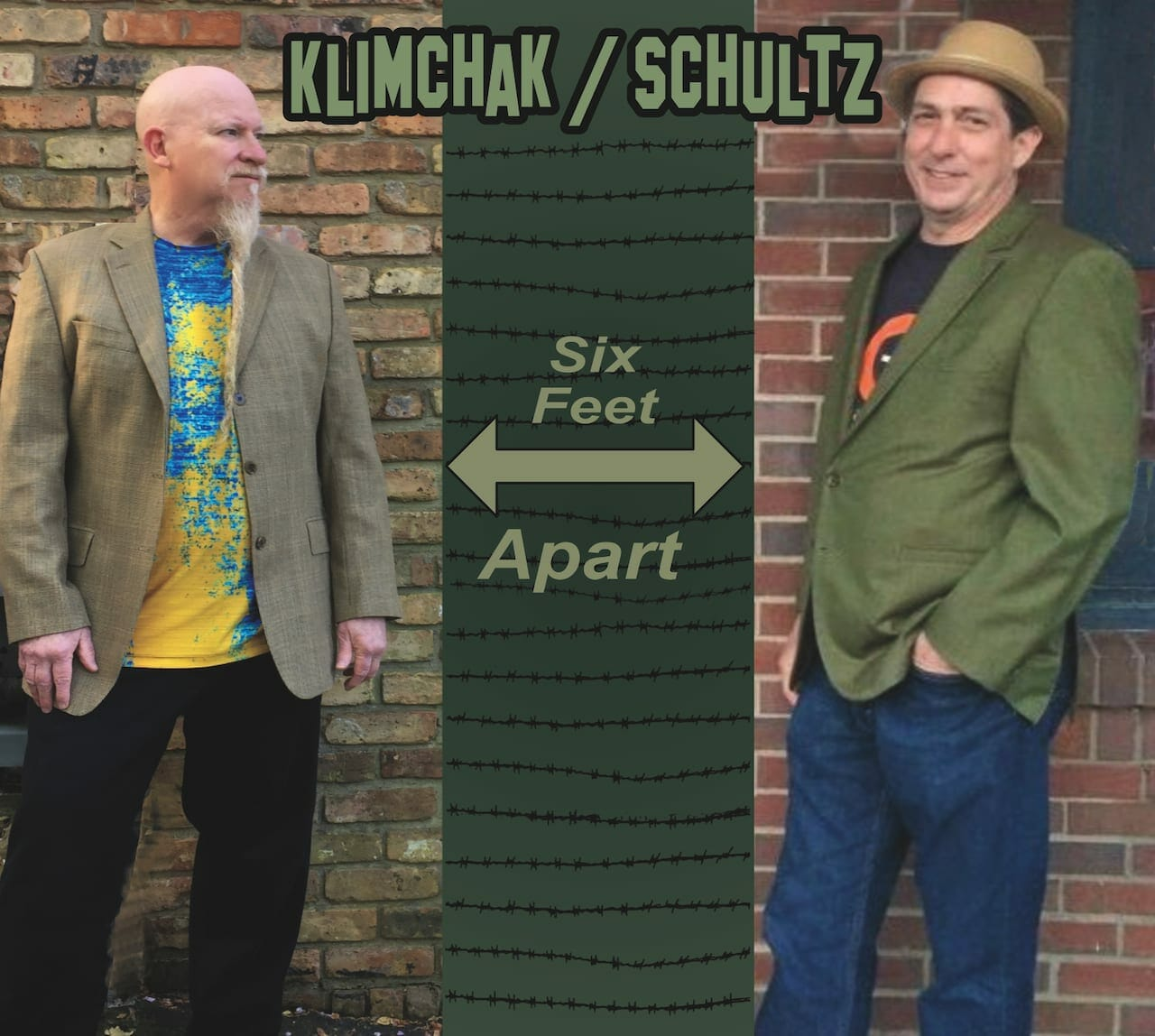 """Six Feet Apart"" album cover by Klimchak and Frank Schultz."