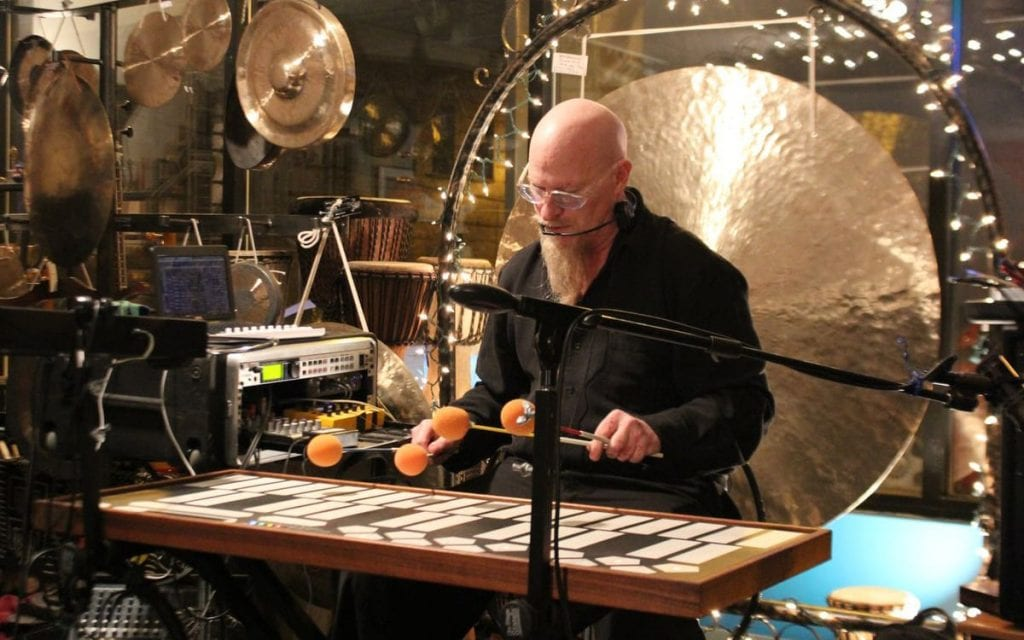 Klimchak performs on a host of unusual instruments. (Photo by Chris Stack)