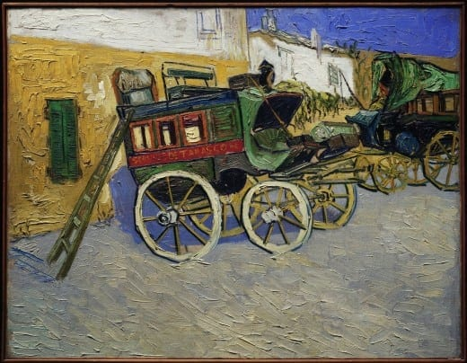 Vincent van Gogh: Tarascon Stagecoach, 1888, oil on canvas. The Henry and Rose Pearlman Foundation, on long-term loan to the Princeton University Art Museum.