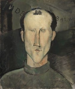 Amedeo Modigliani Jean Cocteau , 1916 Oil on canvas 39 1/2 x 32 in. The Henry and Rose Pearlman Foundation, on long - ter m loan to the Princeton University Art Museum