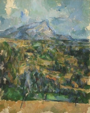 Paul Cézanne: Mont Sainte-Victoire, ca. 1904 –1906, oil on canvas, The Henry and Rose Pearlman Found ation, on long-term loan to the Princeton University Art Museum.
