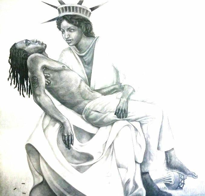 "The Gilbert Young drawing ""Liberty."""