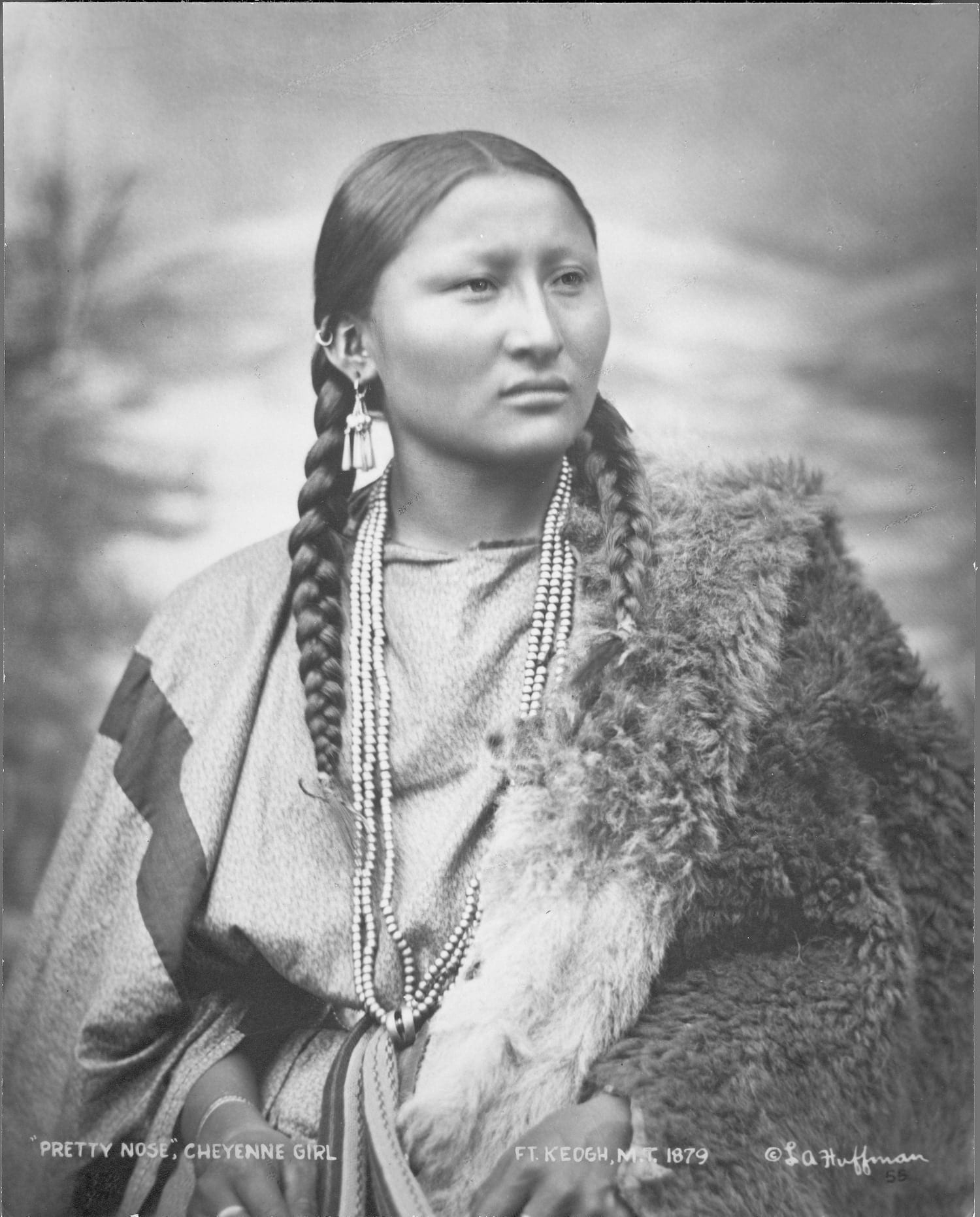 "Laton A. Huffman: ""Pretty Nose,"" Cheyenne Girl, 1879. Collotype. Buffalo Bill Center of the West."