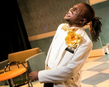 Lawrence Flowers in the musical Five Guys Named Moe