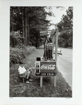 Alfred Eisenstaedt: Little Boy Selling Coca-Cola at Roadside, Atlanta, Ga., 1936, gelatin silver print. Collection of The Coca-Cola Company.