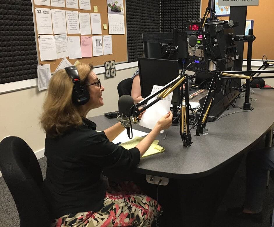 Lois Reitzes in the WABE studio.