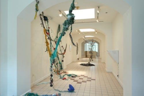 Installation view of Pam Longobardi's works at Hudgens.