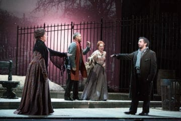"Two singers from The Atlanta Opera perform ""La bohème."""