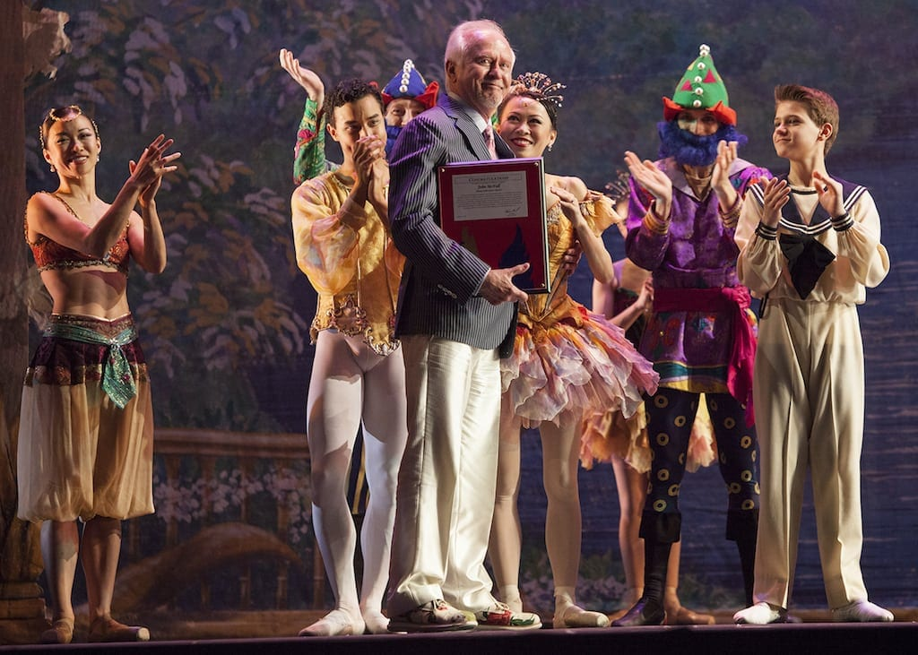 McFall received a curtain call on opening night.