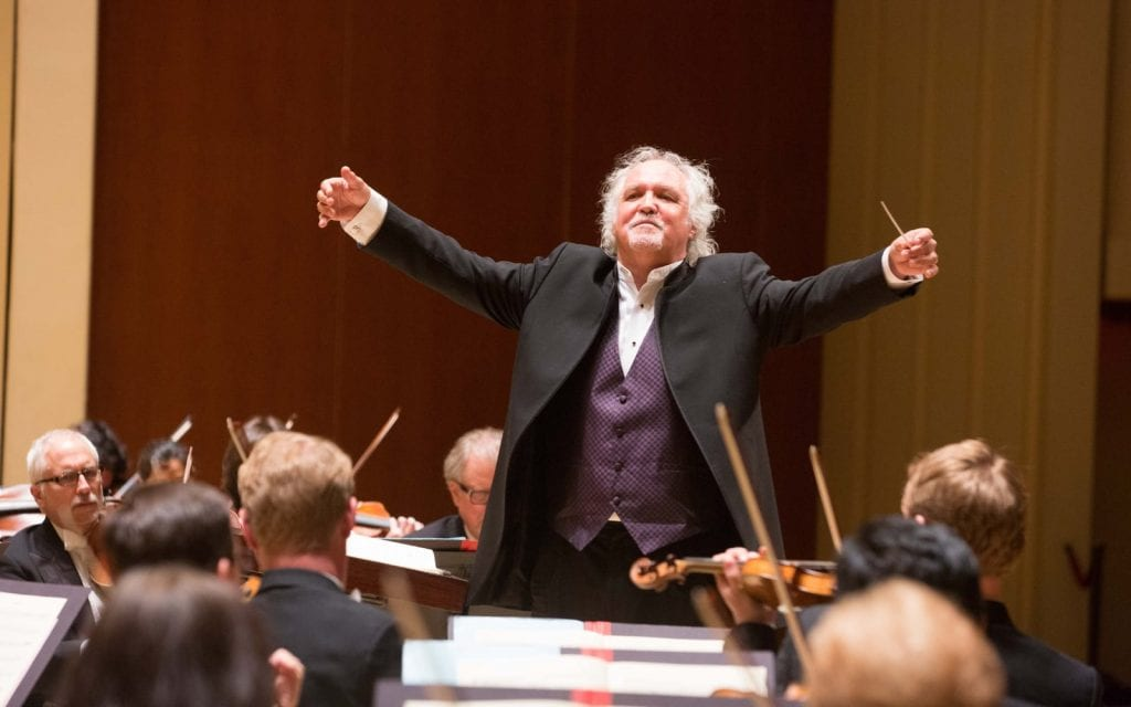 Principal guest conductor Donald Runnicles led the ASO in one of its best performances of the year, )Photo by Jeff Roffman)
