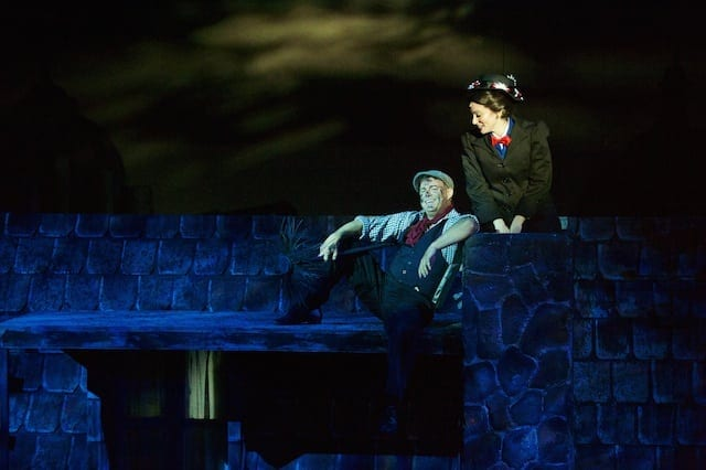 Andy Meeks and Galen Crawley head a superb cast in Mary Poppins. (Photos by Chris Bartelski)