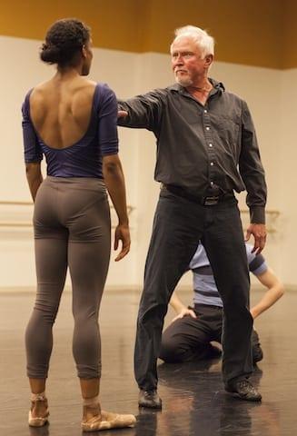 McFall works with dancer Kiara Felder. (Photo by Charlie McCullers)