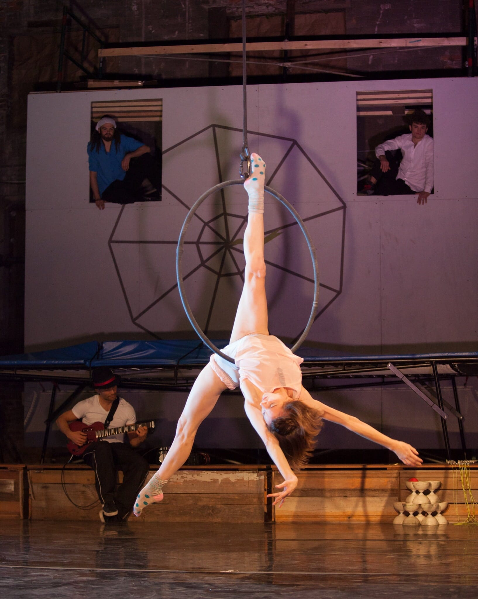 Meaghan Muller performs in the cerceau. (Photo by Charlie McCullers)