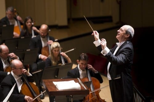 ASO music director Robert Spano took the unusual move of commenting on labor negotiations. (Photo by Jeff Roffman)