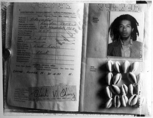 Albert Chong: My Jamaican Passport, 1992.