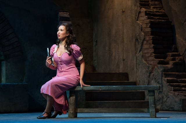 Nadine Sierra in the Atlanta Opera's Rigoletto. (Photo by Jeff Roffman)