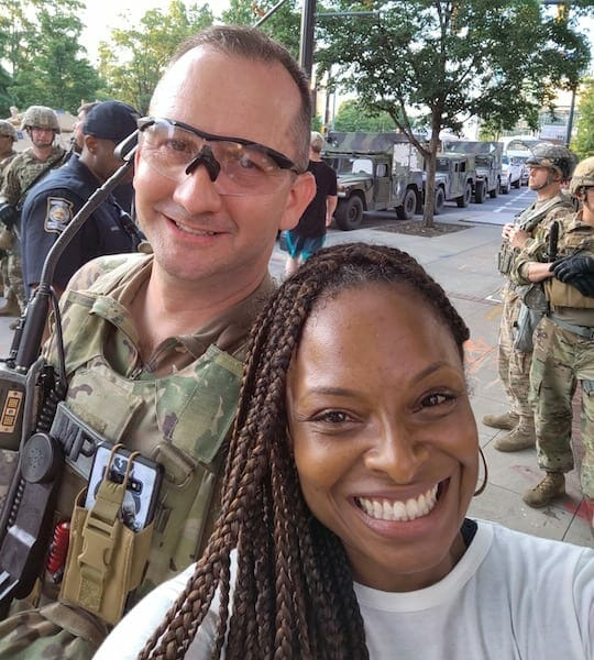 National Guard Major Trey Constantine + Amisha Harding, June 2020