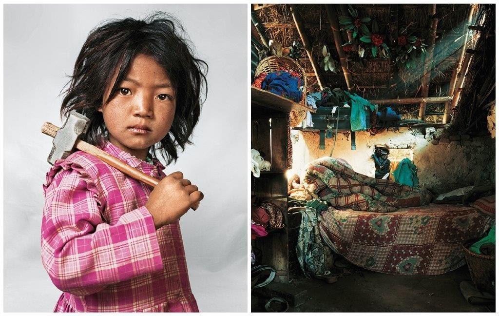 India, 7, Kathmandu, Nepal: Indira lives with her parents, brother and sister near Kathmandu. Her house has only one room, with one bed and one mattress.