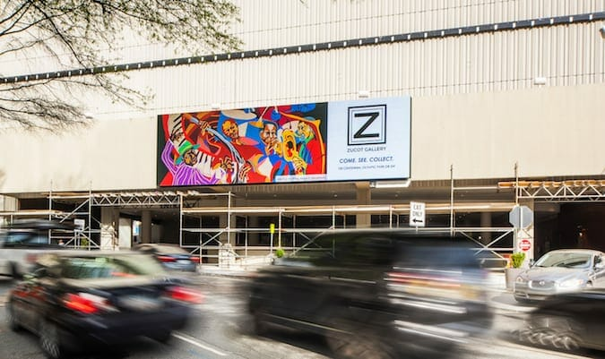 ZuCot Gallery billboard - March 2020