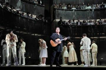 Opera star Jamie Barton sings onstage with the New York Metropolitan Opera.