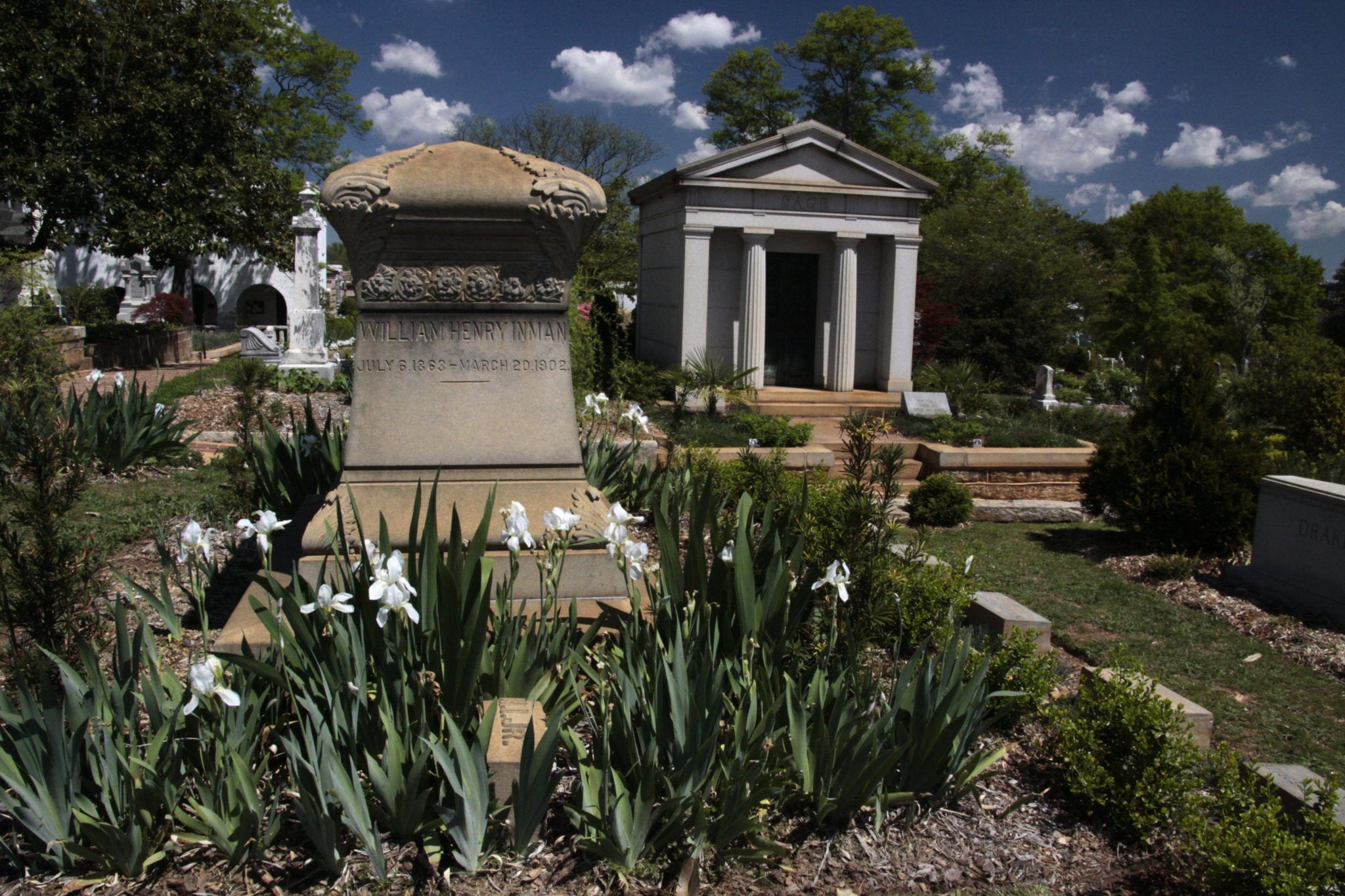 Oakland Cemetery gardens. Photo by Dinny Addison, courtesy the Historic Oakland Foundation.