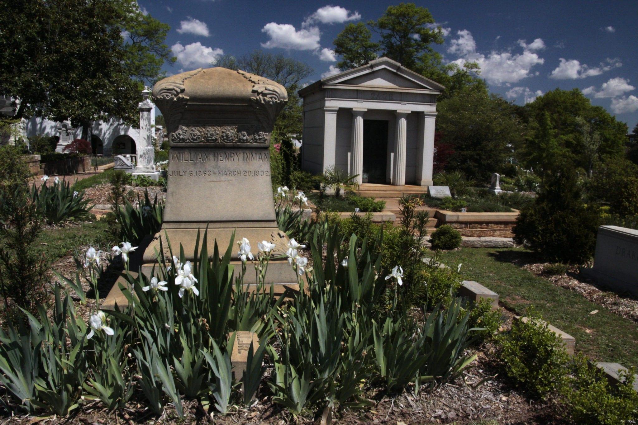 Oakland Cemetery gardens. Photo by Dinny Addison, courtesy the Historic Oakland Foundation.